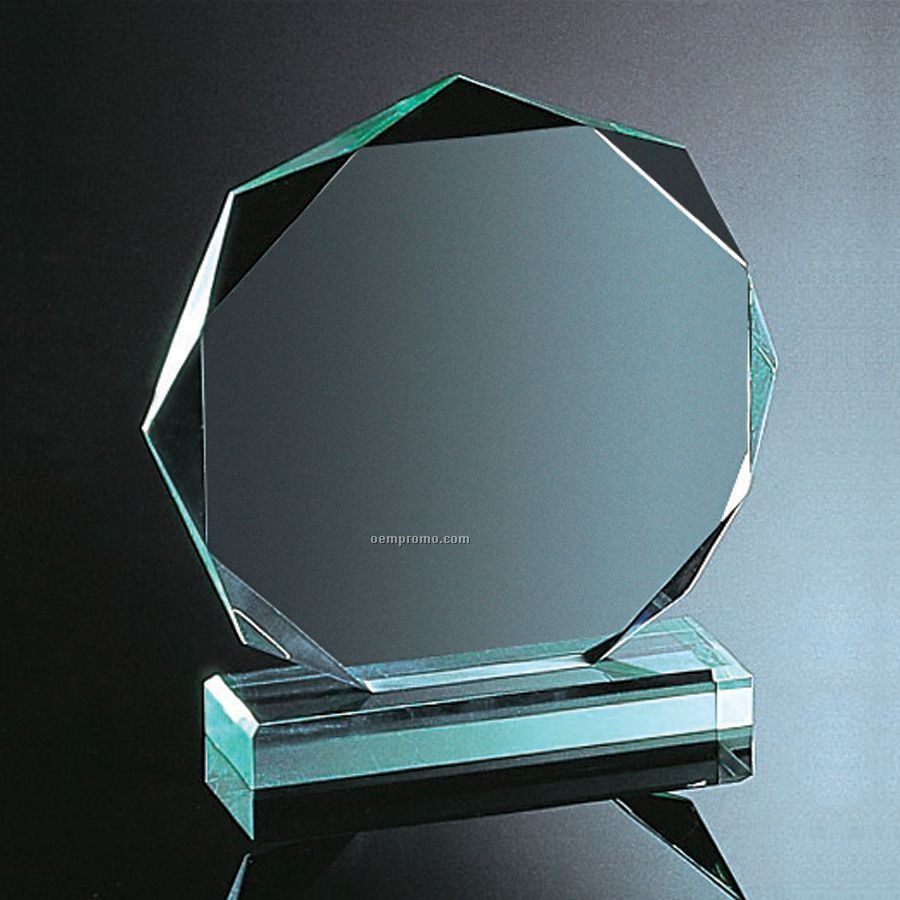 Jade Green Octagon AwardGreen Octagon