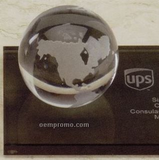 2quot  glass clear world globe