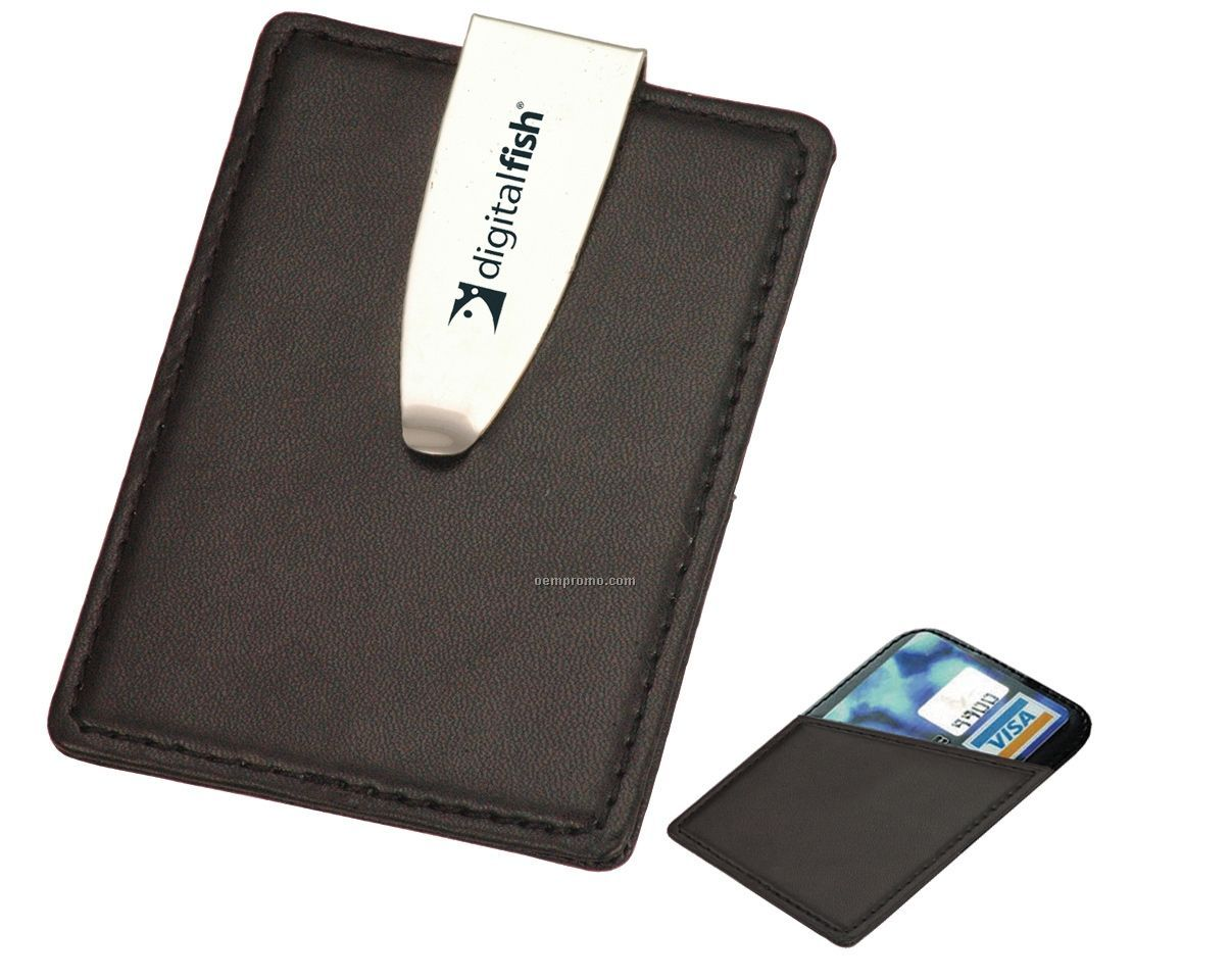 money clip business card holder