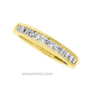 ' 14ky 3/4 Ct Tw Square Princess Anniversary Band Ring (Size 5-8) (G