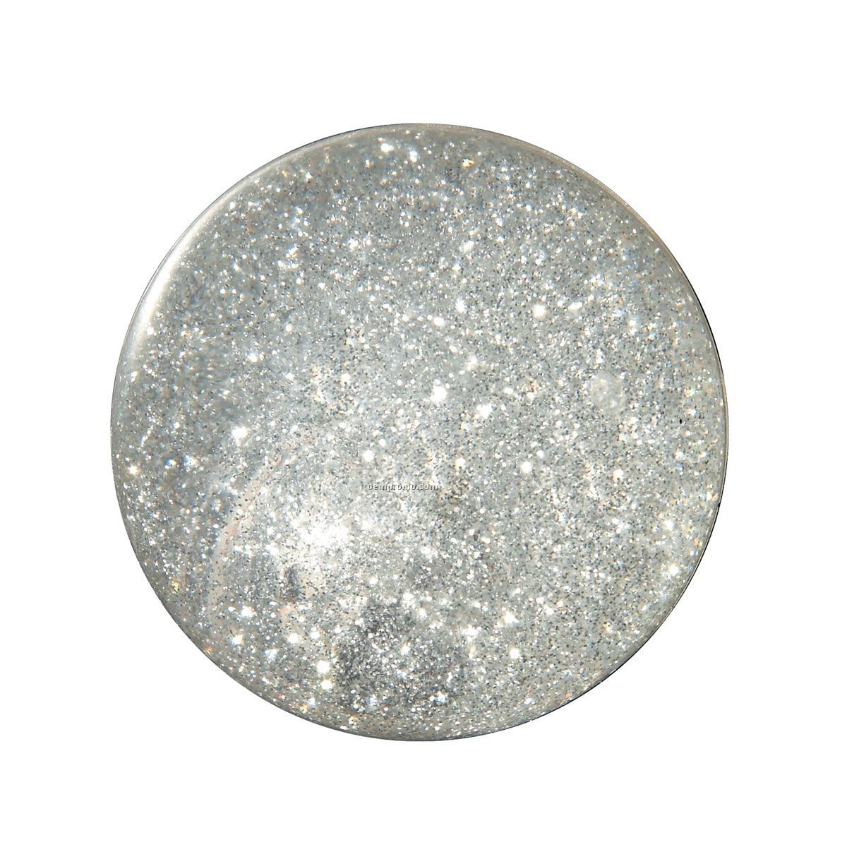 Glitter Light Up Bouncy Ball Silver China Wholesale