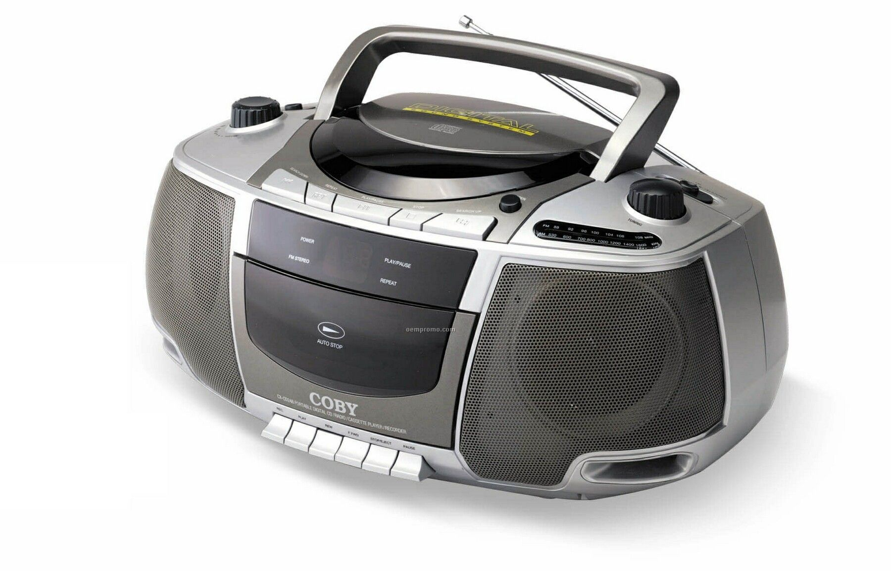 Coby Portable CD Radio Cassette Player Recorder 305693 on coby portable cassette player
