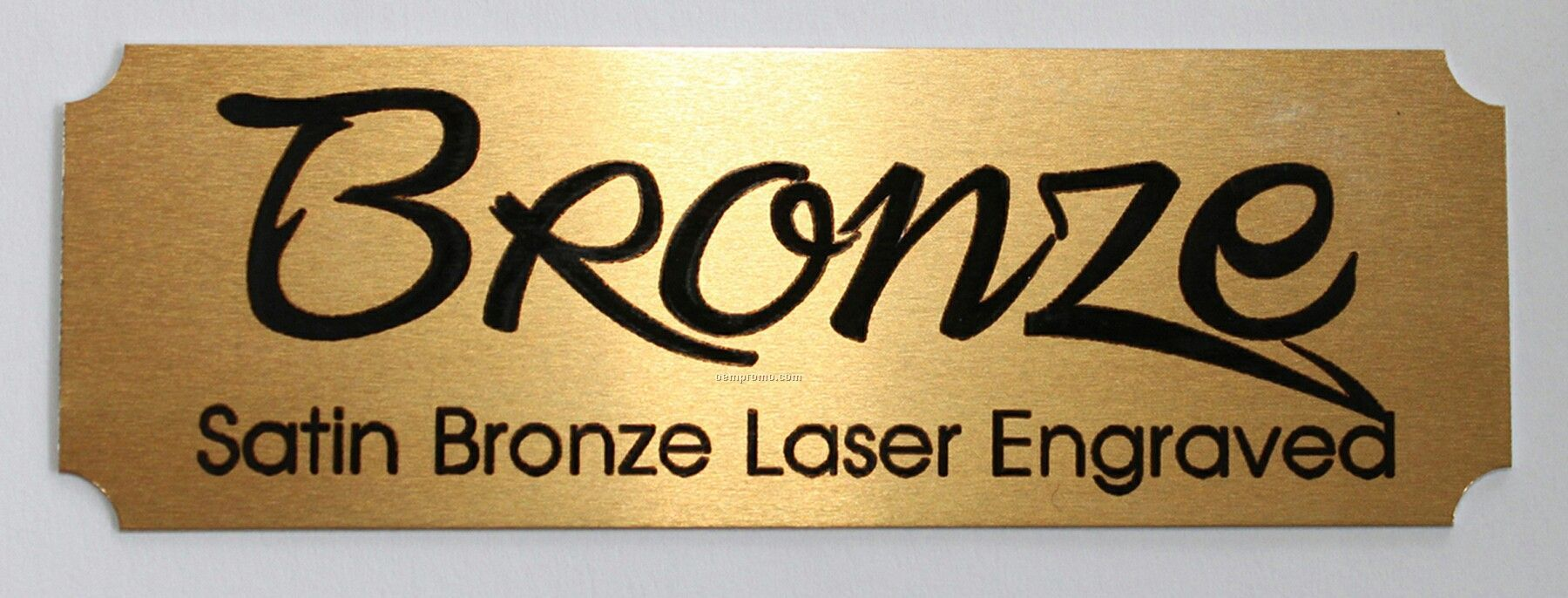 Laser Engraved Satin Bronze Name Plate 3 Quot W X 1 Quot H China