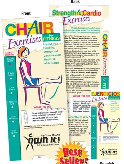 Chair fitness exercises http www oempromo com product charts c chair