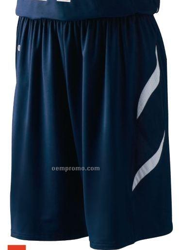 Liberty Ladies Polyester Spandex Basketball Shorts W  Contrast Trim  White  9246540 2 Stripe Baseball Pant