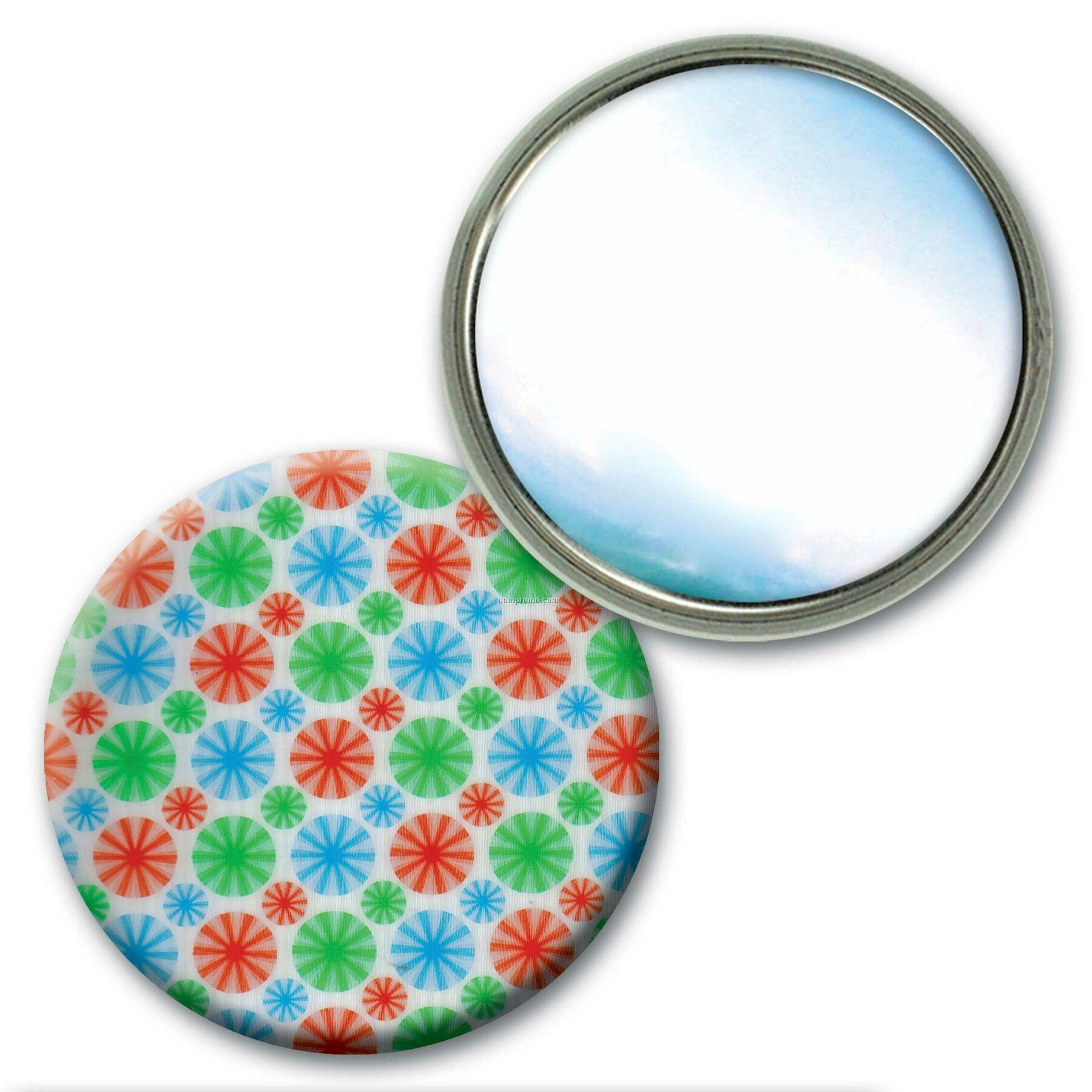 pact Mirror Lenticular Animated Wheels Effect Blank