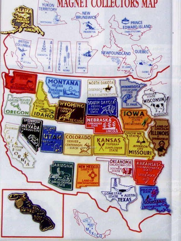 Map Usa Magnetic AABA - Magnetic map of us