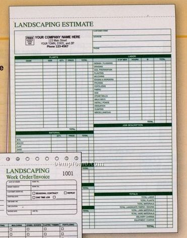 landscaping estimate template