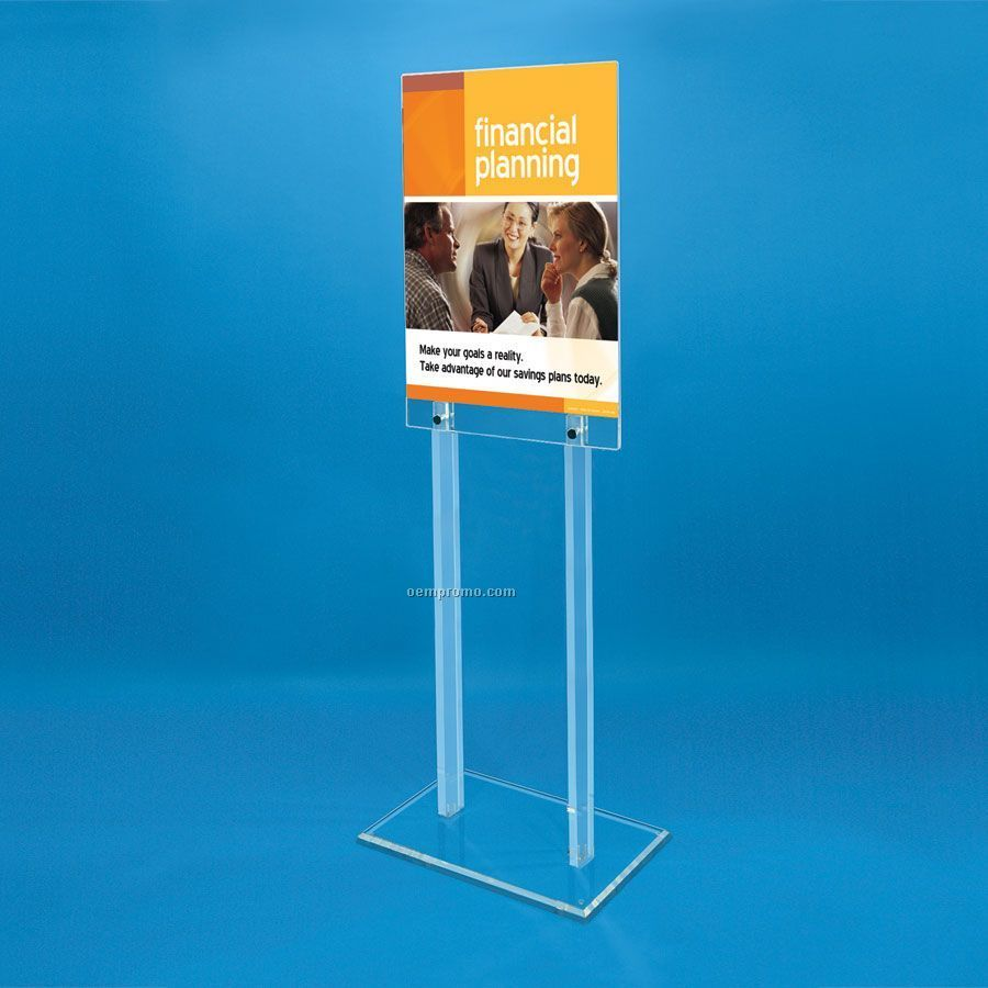 2 Sided Acrylic Floor Poster Stand China Wholesale 2 Sided