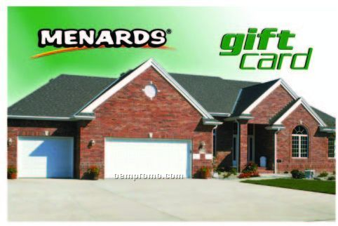 Menards Gift Cards Menards is a large chain of home improvement retail stores. Menards gift cards can be redeemed at any of store locations across the midwestern United States.