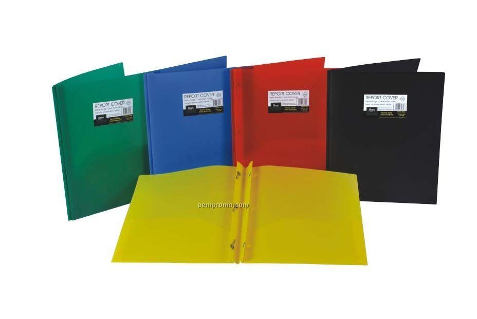 Yellow 3 metal prong 2 pocket premium opaque folder 35808316