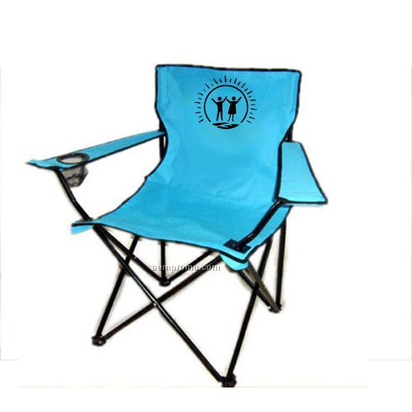 Green Folding Camping Canopy Covered Chair at RVToyOutlet.com