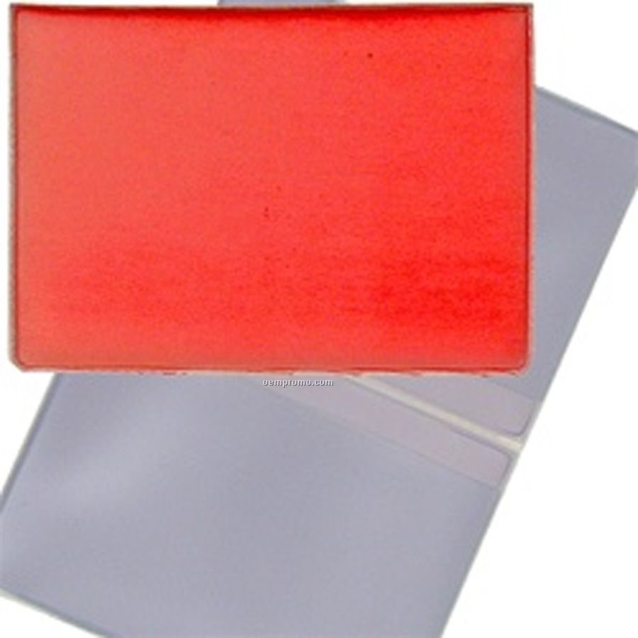3d Lenticular Business Card Holder Red White China