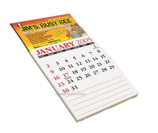 Peel stick 1 year calendar business card magnet 2 day for Business card calendar