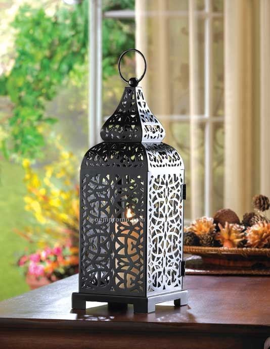 Moroccan tower candle lantern china wholesale moroccan for Home dec far east ltd