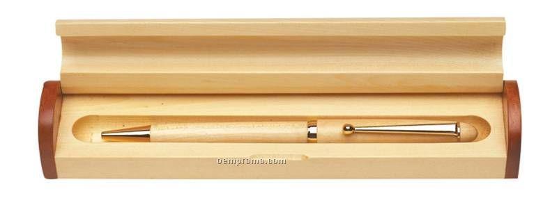 wood pen case