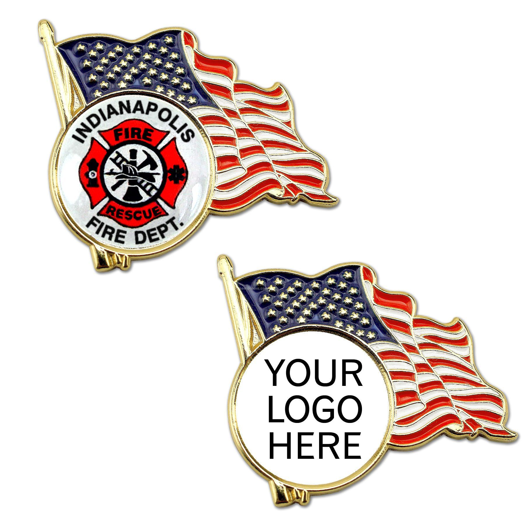 american flag lapel pin with custom logo china wholesale american flag