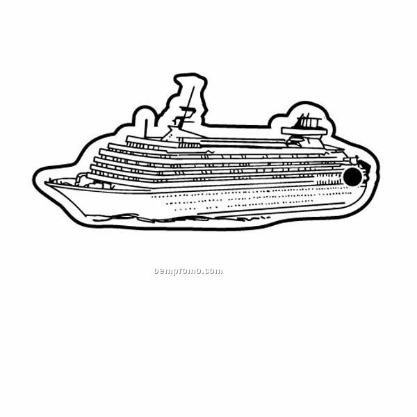 Cruise Ship Outline Cruise ship 1 key tag
