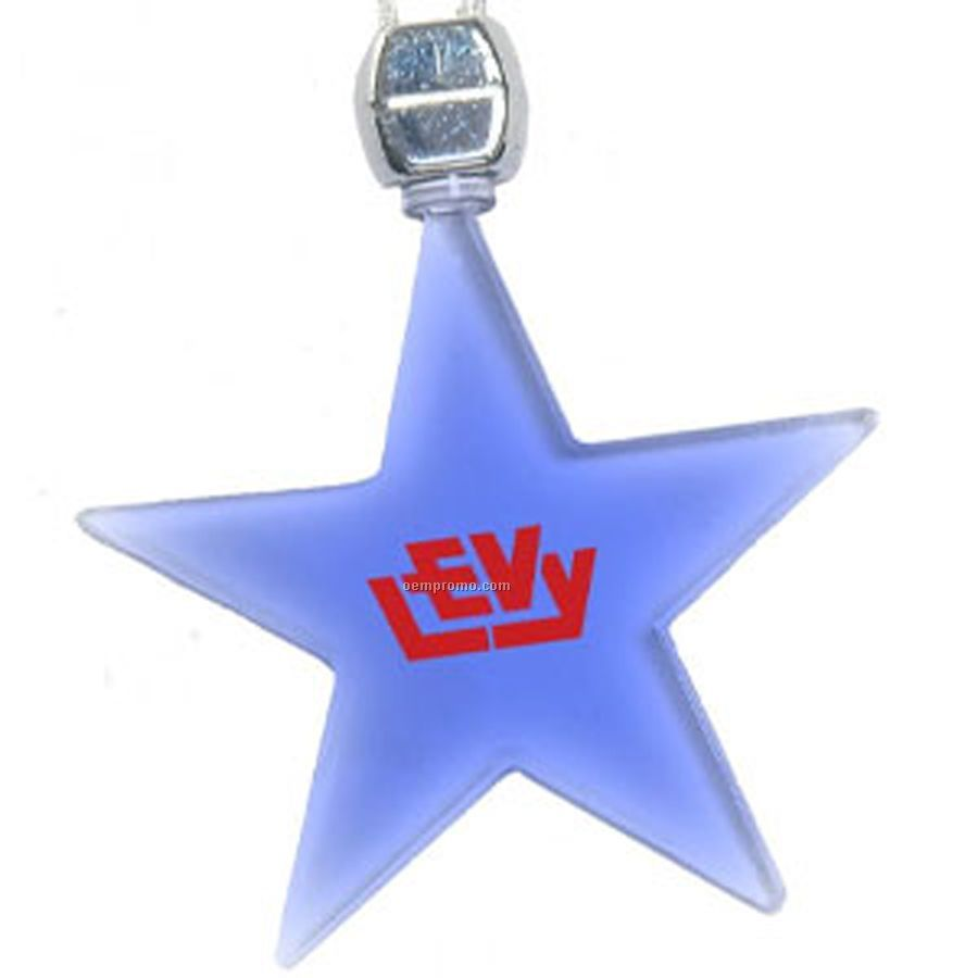 Star Pendant Necklace on Green Star Light Up Pendant Necklace
