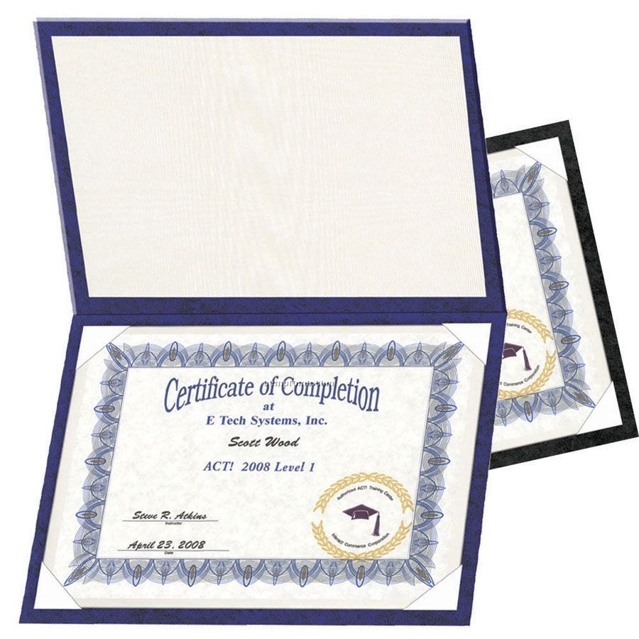 Padded Certificate Holder China Wholesale Padded