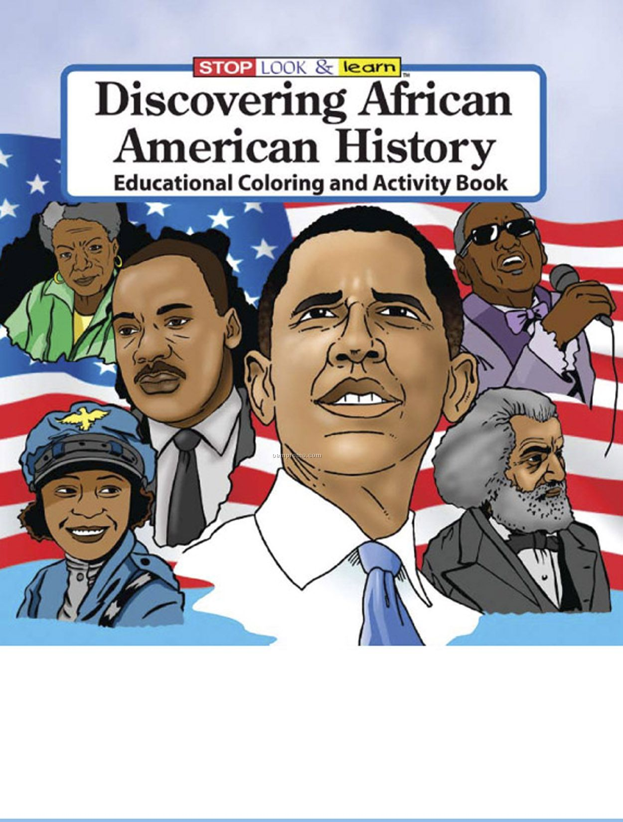 Discovering african american history coloring book fun for American history trivia facts