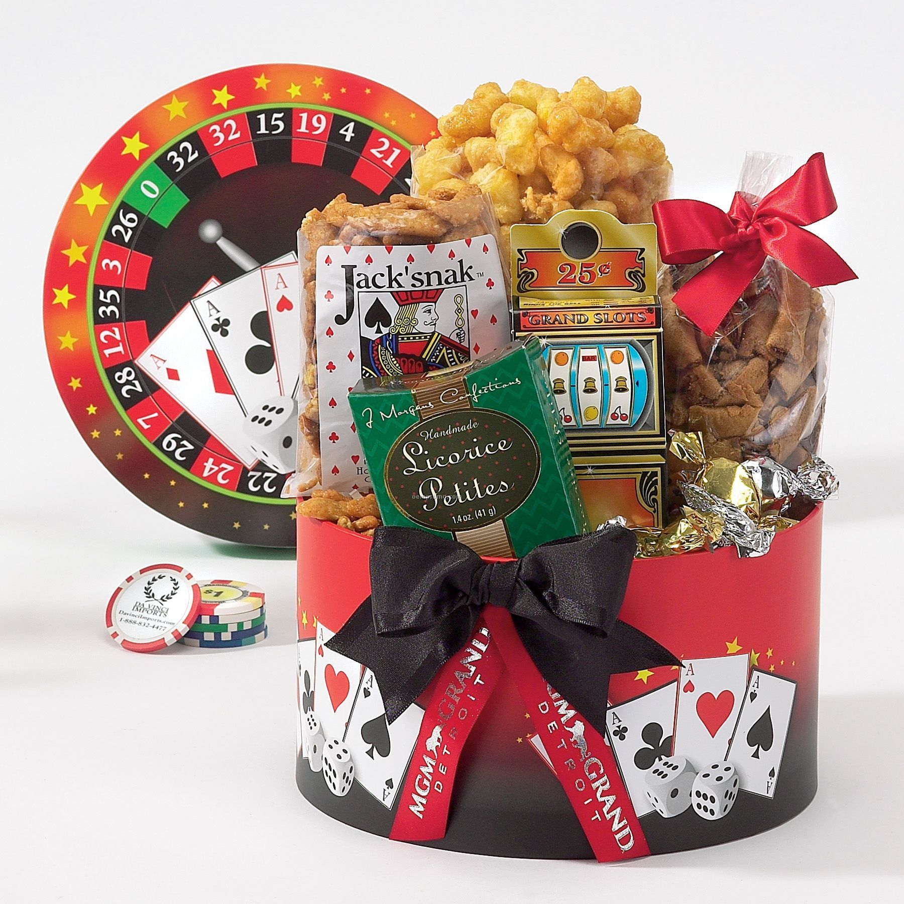 Casino cookie basket