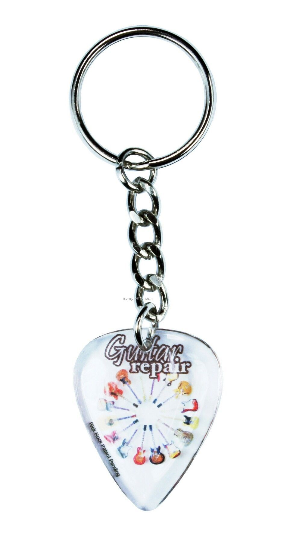Guitar Standard Pick Key Chain